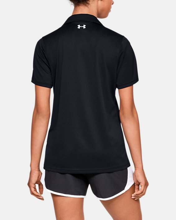 Women's UA Tech™ Corp Polo, Black, pdpMainDesktop image number 2